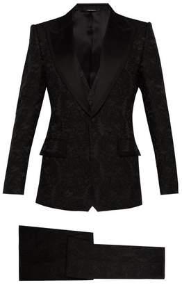 Dolce & Gabbana Floral Brocade And Satin Three Piece Suit - Mens - Black