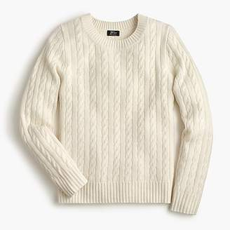 J.Crew Cable crewneck sweater in everyday cashmere