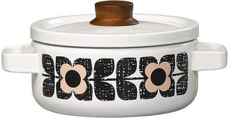 Orla Kiely Enamel Scribble Square Flower Casserole Pot