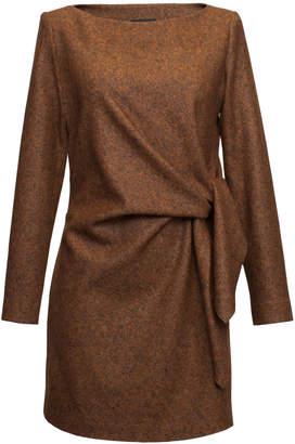 Lake Studio Tie-Detailed Wool And Silk Blend Mini Dress