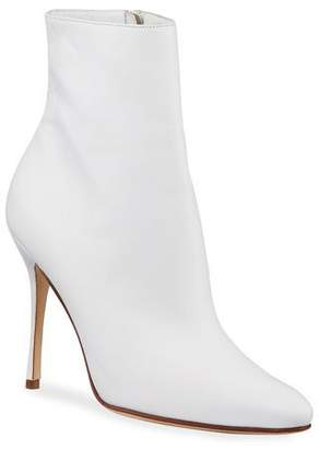 Manolo Blahnik Insopo Leather Zip Booties