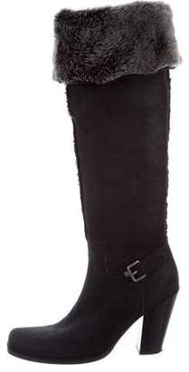 Miu Miu Suede Over-The-Knee Boots
