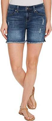 Liverpool Jeans Company Women's Vickie Short Frayed in Vintage Super Comfort Stretch Denim