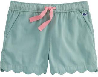 Vineyard Vines Girls Garment-Dyed Scallop Hem Pull-On Shorts