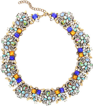 Sparkling Sage 14K Plated Crystal & Resin Statement Necklace