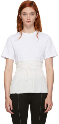 3.1 Phillip Lim White Pleated Waist T-Shirt