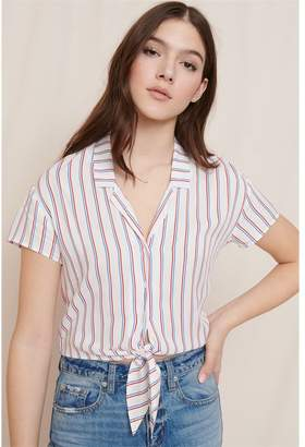 Garage Knot Front Shirt With Elastic