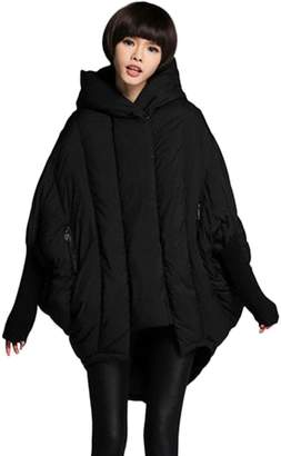 RUIATOO- RUIATOO Women's Loose Thickened Down Warmth Hooded cap Outwear Coat