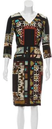Etro Abstract-Printed Knee-Length Dress