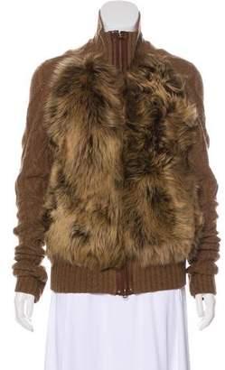 Ralph Lauren Fur-Trimmed Wool Jacket