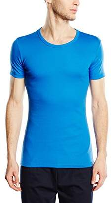 ... Trigema Men's T-Shirt Blue Blau (Electric Blue 048)