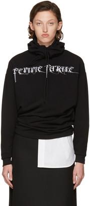 Balenciaga Black 'Femme Fatale' Headscarf Hoodie $795 thestylecure.com