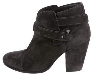 Rag & Bone Suede Cap-Toe Ankle Boots