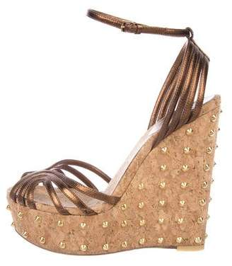 Gucci Cecyl Embellished Wedge Sandals