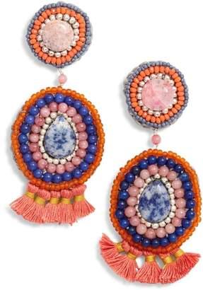 Nakamol Design Circle Crochet Drop Earrings
