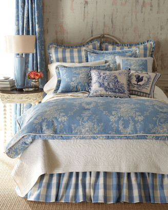 """Sherry Kline Home Framed Country Manor Toile-Print Pillow, 18""""Sq."""