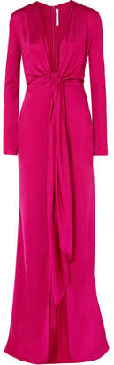 Givenchy Knotted Stretch-jersey Gown - Fuchsia