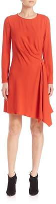 Natori Women's Crepe Side Drape Dress