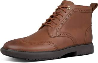 FitFlop Odyn Leather Brogue Boots