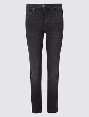 Limited Edition Mid Rise Straight Leg Cropped Jeans