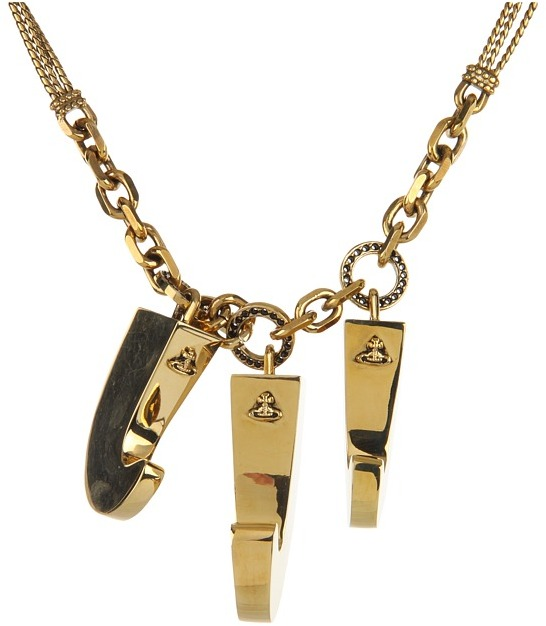 Vivienne Westwood 3 Claw Necklace (Raw Brass/Copper Chain) - Jewelry