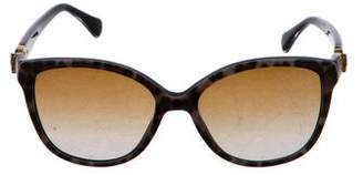 Dolce & Gabbana Polarized Animal Print Sunglasses