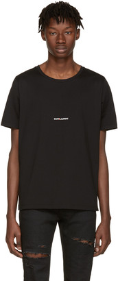 Saint Laurent Black Rive Gauche T-Shirt $350 thestylecure.com