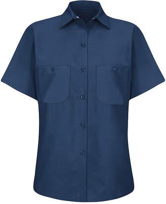 Wrangler Wranglers Womens Industrial Short-Sleeve Work Shirt - Plus