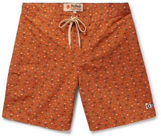 Mollusk Long-Length Printed Cotton-Blend Swim Shorts