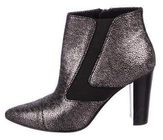 Donald J Pliner Metallic Leather Ankle Boots
