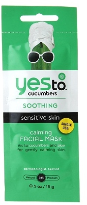 Yes to Cucumbers Soothing Calming Facial Masks