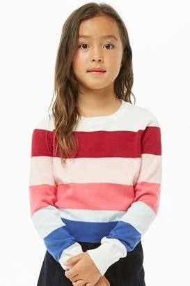 Forever 21 Girls Striped Sweater (Kids)