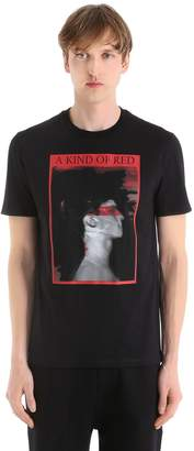 Neil Barrett A Kind Of Red Cotton Jersey T-Shirt