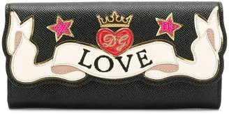 Dolce & Gabbana continental wallet with embroidery