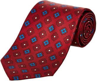 Drakes Drake's Burgundy Silk Tie