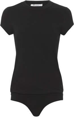 Alexander Wang Black Short Sleeve Bodysuit