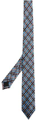 Burberry Slim Cut Check Silk Jacquard Tie