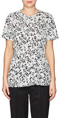 Proenza Schouler Women's Self-Strap Floral Cotton T-Shirt