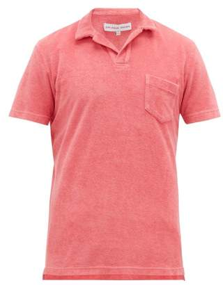 Orlebar Brown Cotton Terry Polo Shirt - Mens - Pink