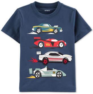 Carter's Carter Baby Boys Race Car-Print Cotton T-Shirt