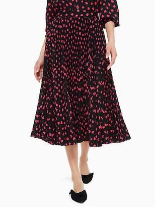 Kate Spade Heartbeat Pleated Skirt, Black - Size 0