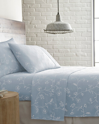South Shore Linens Soft Shabby Chic 300 Thread Count Cotton Sateen Sheet Set