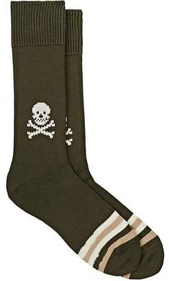 Corgi Men's Skull-Motif Cotton Mid-Calf Socks