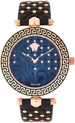 Versace VK7030013 Rose Gold-Tone & Black Watch