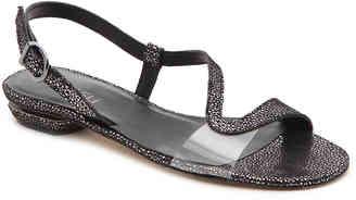 Women's Berta Flat Sandal -Black $150 thestylecure.com
