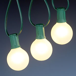 Frosted Bulb String Lights