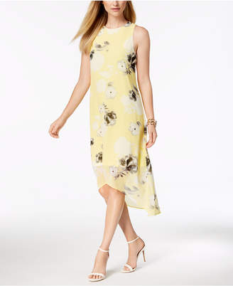 Alfani Petite Printed High-Low Maxi Dress, Created for Macy's