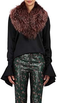 Barneys New York Women's Fox Fur Collar Scarf - Pink