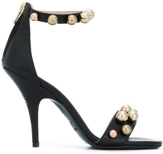 Patrizia Pepe beaded sandals