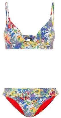 Stella McCartney Plunge floral-printed bikini
